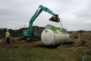sewage treatment plant installation